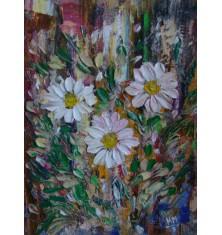 Картина - Бели Цветя Зебло